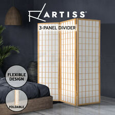 Artiss 3 Panel Room Divider Screen Wood Timber Dividers Fold Stand Wide Beige