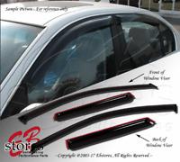 Tape-On Rain Guard Visor Light Grey 4pcs For 2003-2009 Mercedes-Benz E320 E350