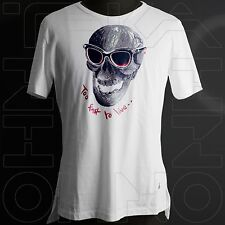 VIVIENNE WESTWOOD MAN JAPAN CHEST 39.5 TOO FAST TO LIVE T-SHIRT COTTON skull