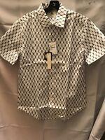 Kennington Ltd. Men's Shirt Size Medium Short Sleeve White