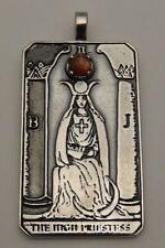 HIGH PRIESTESS Tarot Card Pendant .925 Sterling Silver Authentic Sunstone gem