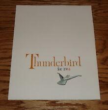 Original 1961 Ford Thunderbird Foldout Sales Brochure 61 T-bird