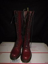 Dr. Martens Knee Red Leather Boots 12270 Size US 7 L - Doc Marten's Docs
