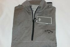 Callaway Mens Grey Sun Protection Quarter Zip Golf Pullover $85 Size M,L,XL,XXL