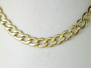 """10k Yellow Gold .417 Cuban Curb Style Chain 20"""" Fine Necklace"""