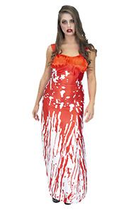 Zombie Ladies Bloody Prom Queen Halloween Fancy Dress Costume Outfit Girl Teen