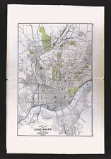 1904 George Cram Map Cincinnati Plan Ohio River Downtown Riverfront Railroads Oh