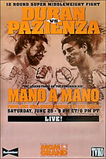 Original Vintage Vinny Paz vs. Roberto Duran Boxing Fight Poster Fight Poster