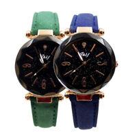 Luxury  Women Leather Casual Watch Luxury Analog Quartz Starry Sky Wristwatch