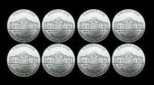 2018 2019 2020 2021 P+D Jefferson Nickel Set Mint Business Strike from Bank Roll
