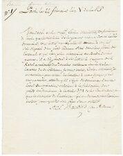 Conventionnel BAUDIN des ARDENNES autographe 1796