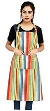 Chef Apron for Women.100% Cotton Durable Kitchen Aprons with Pockets.Plus Size