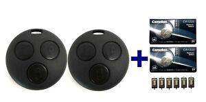 2x Schlüssel Gehäuse für Smart 450 Funk Fernbedienung + Mikrotaster + Battterie