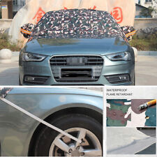 1x Car Half Cover Snow Ice Proof Protector Windshield Camouflage Sun Shade Block