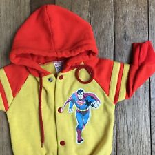 Vintage 1975 SUPERMAN Childs Sweatshirt DC Comics RARE Size Small 18M Red Yellow