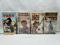 NEW SEALED CLASSIC WESTERN MOVIES VHS LOT OF 4 JOHN WAYNE PETER GRAVES TALL T