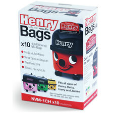 Genuine Henry Bags Pack Of 10 Dustbags - NVM-1CH - Fits ALL 160-300 Tubs