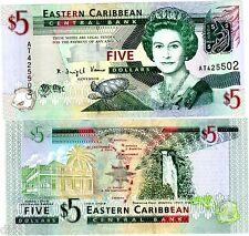 Caraibes EASTERN EAST CARIBBEAN Billet 5 Dollars ND 2008 P47  NEUF UNC