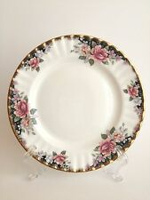Royal Albert Bone China Concerto Pink Blue Roses Salad Plate England Vintage
