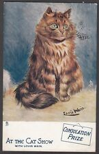 Postcard Louis Wain artist At The Cat Show series 1 #9540 Consolation Prize 1909