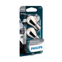 Philips PY21W Silver Vision SilverVision Chrom Signallampe 2erSet 12496SVB2