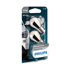 Philips PY21W Silver Vision SilverVision Chrom Signallampe 2erSet 12496SVB2