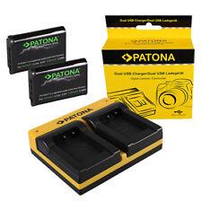 2x Batterie Patona Premium + Chargeur de USB Double Pour Sony DSC-HX99, DSC-RX1