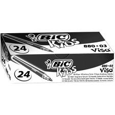 BIC Kids Visa Feutres de Coloriage - Noir, Boîte de 24