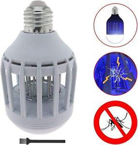 Ampoule LED Anti Moustique E27 9W Destructeur Insectes 2 En 1 Electrique Lampe