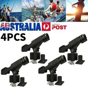 4PCS Adjustable Kayak Boat Fishing Rod Holder 360 Degree Swivel Side Mount Kit
