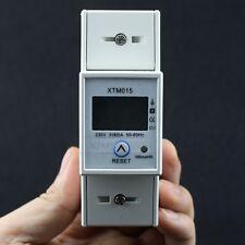 LCD Wechselstromzähler Stromzähler 50-60Hz S0 5(80)A KWH für DIN Hutschiene Neu
