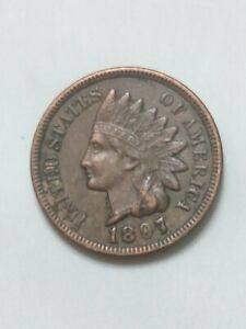 1897 Indian Head Cent About Uncirculated
