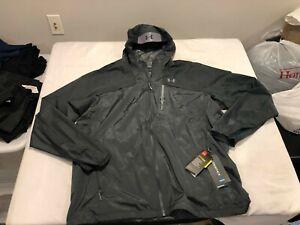 NWT $160.00 Under Armour Mens Storm Scrambler Waterproof Jacket Gray Size 3XL