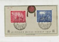 Germany 1947 Leipziger Autumn Fair 450 Yrs Slogan Cancels Stamps Card Ref 35120