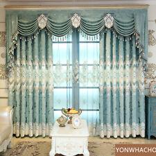 Living room Chenille jacquard blue cloth blackout curtain valance panel C005