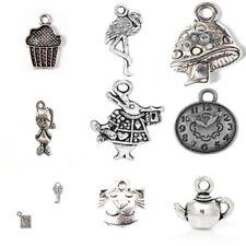 20 x tibetan silver mixte pendentif breloques Alice au pays des merveilles