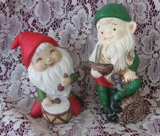Vintage Home Interior Homco Elf Figurines Lot of 2 Elf Figurines