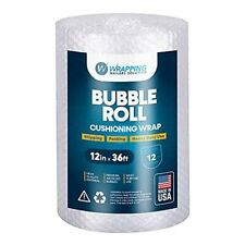 Air Bubble Cushioning Roll Wrap 12 Inches X 36 Feet Perforated Every 12 Inch