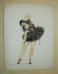 1944 PIN UP PAINTING. ORIGINAL ART WORK. DANCER.