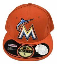 New Era 59Fifty Mens MLB Miami Marlins Baseball Hat Cap New 7 3/4, 8