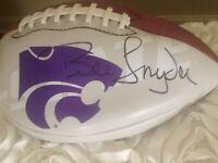 Bill Snyder Signed Kansas State Autograph Football KSU