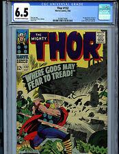 Thor #132 CGC 6.5 Marvel Comics 1966 1st  Ego Kirby Art K9