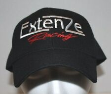 NEW EXTENZE RACING  One Size Hat/Cap Black  w/White & Red Embroidery adjustable