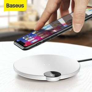 Baseus Qi Wireless Charger LED Charging Pad for iPhone 12 Mini Pro Samsung S9