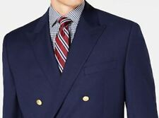 Lauren Ralph Lauren Blazer Size 46L Men Suit Jacket Bright Blue Wrinkle Resistan
