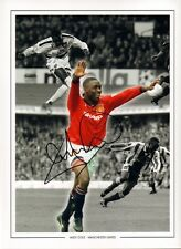 Firmato Andrew ANDY Cole Manchester United Autograph Foto Montage + prova