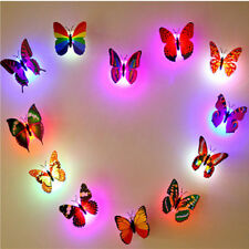 Color Changing Butterfly LED Light Lamp Bedroom Wall Decor For Girl Kids Party