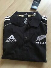 All Blacks Adidas polo rugby shirt L