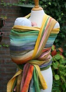 Girasol Baby Wrap Amitola Azafran Sz 7 5.2 m New Tags Twill $150 fair trade rare