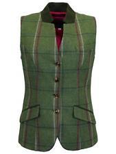 Ladies Margate Tweed Waistcoat | Gilet Countrywear Pink Check 10